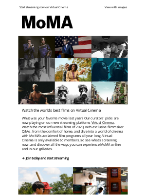 Museum of Modern Art Store (MoMA) - See the year's best films on MoMA's new streaming platform