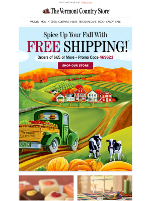 Vermont Country Store - Spice Up Your Order With Free Shipping