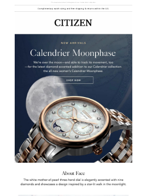 Citizen Watch Company - Introducing the Dreamy Citizen Calendrier Moonphase 🌙