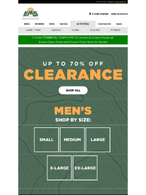 Eastern Mountain Sports - CLEARANCE - Deals in EVERY Size!
