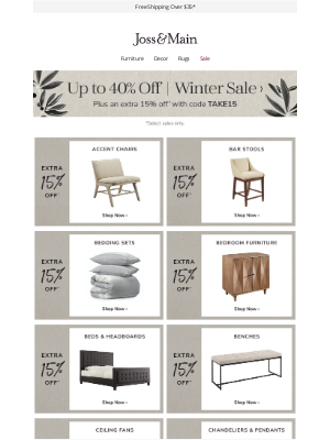 Joss & Main - accent chair sale + five-star styles