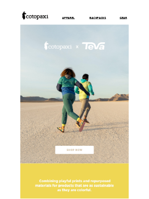 Teva x Cotopaxi. Don't Miss This.