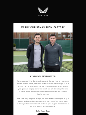 Merry Christmas From Castore | A Note From The Founders