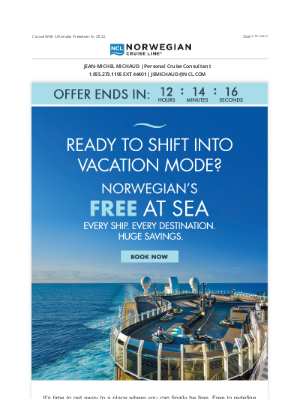 Norwegian Cruise Line - Last Day For HUGE Savings: FREE Air + 30% Off & More.