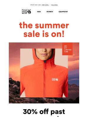 Mountain Hardwear - Let the Summer Sale begin.