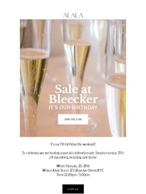 Alala - YOU'RE INVITED: 25% Off at Bleecker