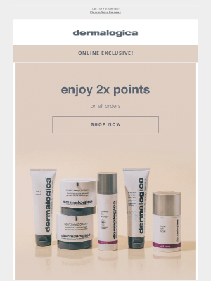 Dermalogica - Double points on everything starts now! ✨
