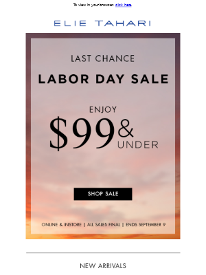 Elie Tahari - Last Chance for $99 and Under