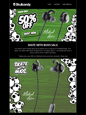 Skullcandy Inc. - Daily Deal: 50% off Method Active