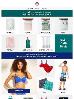 2-day flash sale: 25% off bed & bath 🛀