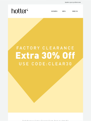 Hotter Shoes - Don't miss out on an extra 30% off our Factory Clearance Event