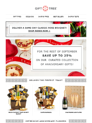 GiftTree - We've Saved the Date! Free Shipping + Up to 25% off!