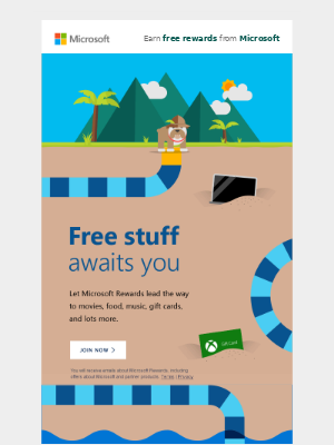 Maribel, open quick: We're treating you to Microsoft Rewards points