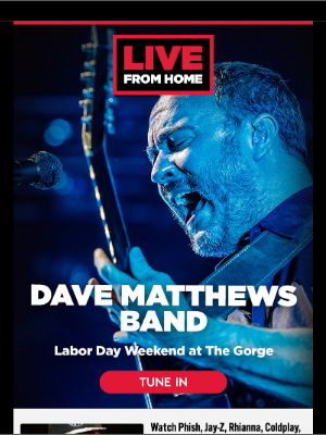 Live Nation - Watch Concerts Live From Home this Labor Day Weekend!