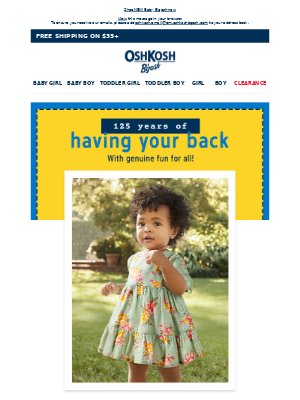 OshKosh B'Gosh - Oh, baby! Up to 40% off our littlest looks