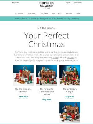 Fortnum & Mason - NEW! Christmas Hampers