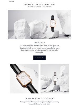 Daniel Wellington - Introducing the Quadro collection.
