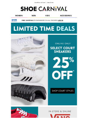 Shoe Carnival - Save 25% on top brands! 👈