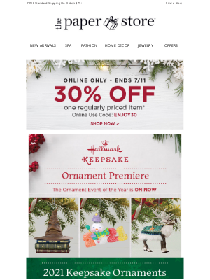 The Paper Store - Ornament Premiere is underway