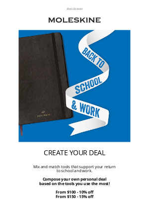 moleskine - Create your special deal