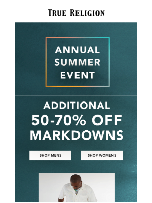 True Religion - Up To An EXTRA 70% Off Markdowns. PLUS…