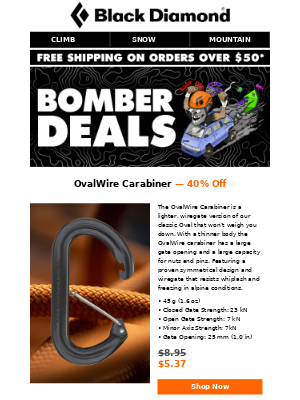 BOMBER DEALS: OvalWire Carabiners for Under $6