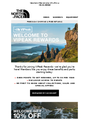 The North Face - Open for your gift, thanks for joining