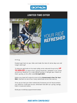 Decathlon (UK) - Get your ride refreshed with Decathlon