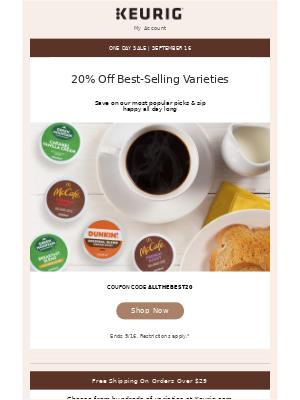 Keurig - Big Savings on Best-Selling Beverages - Today Only