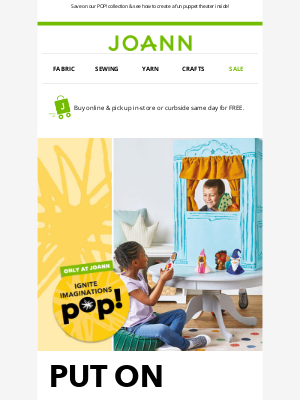 Joann Stores - Save up to 50% on kids summer fun!