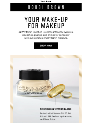 Bobbi Brown Cosmetics - Getting your vitamins has never looked so good