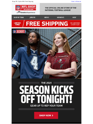 NFLshop - Football is BACK! Gear Up For The New Season