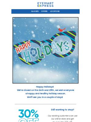 Eyemart Express - Happy Holidays!