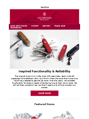 Victorinox - Inspired Functionality & Reliability | Find Your Swiss Army Knife