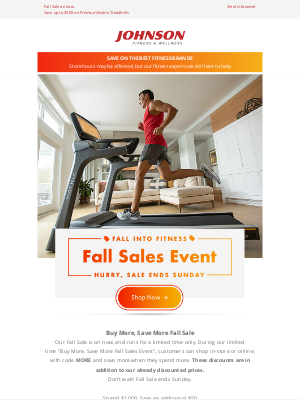 Johnson Fitness - Fall Into Fitness🍂 Fall Sales Event On Now!
