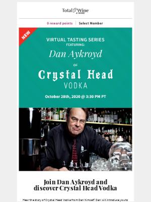 Total Wine & More - 💀 New! Dan Aykroyd's Crystal Head Vodka Tasting