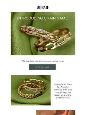 AUrate New York - NEW IN: CHAIN GAME COLLECTION