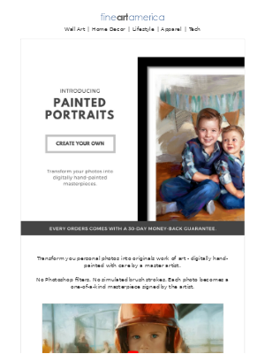 Fine Art America - Painted Portraits - Transform Your Photos into Hand-Painted Works of Art
