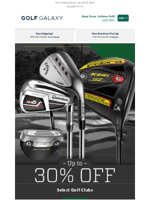 Golf Galaxy - 👏 Up to 30% Off Select Golf Clubs