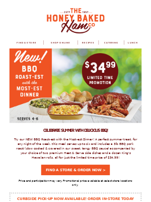 *NEW* BBQ Roast Dinner for just $34.99