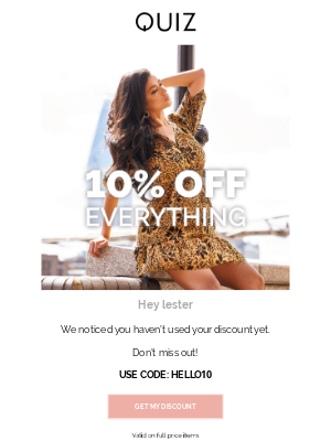 Quiz Clothing (UK) - Want 10% off? ❤️️
