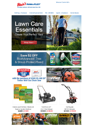 Blain's Farm and Fleet - Shop Lawn Care Essentials ★ Create Your Perfect Yard!