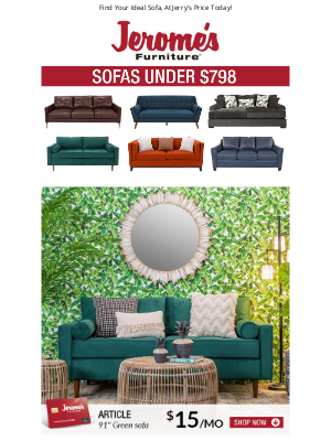 Jerome's Furniture - Sofas All Under $798 🛋️