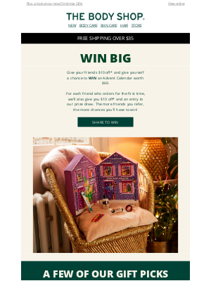 The Body Shop - WIN our best-selling Advent Calendar
