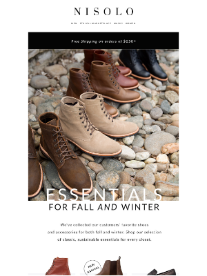 Nisolo - Shoes for fall. Shoes for winter.