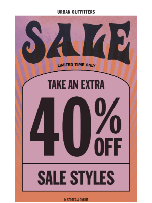 Urban Outfitters - 💜 take an extra 40% OFF 💜