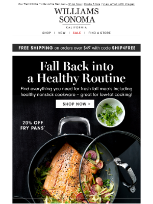 Fall Back into a Healthy Routine + 20% Off Fry Pans