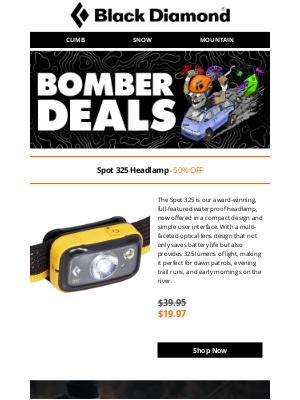 Black Diamond Equipment - BOMBER DEALS: 50% Off Spot 325 Headlamp