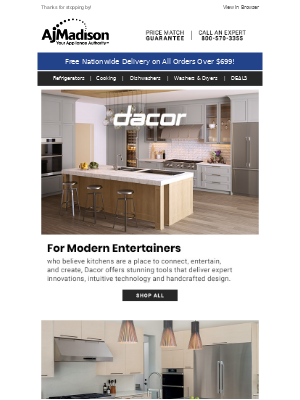 AJ Madison - Dacor    Save up to 20% with the 5•10•20 Promotion