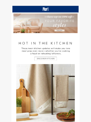 Pier 1 Imports - ALISON, save up to 30% off & Feel like the star of your own cooking show!
